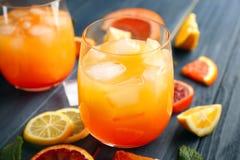 Szkło wyśmienicie tequila wschodu słońca koktajl Zdjęcie Stock