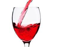Szkło z czerwonym winem Fotografia Royalty Free
