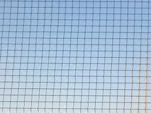 Szkło z metal siatką Zdjęcie Royalty Free