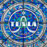 Szkło z Tesla radiem zdjęcia royalty free