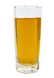 Szkło zielony jabłczany sok odizolowywający Fotografia Stock