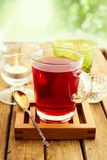 Szkło ziołowa herbata Zdjęcia Royalty Free