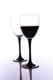 Szkła czerwone wino Fotografia Royalty Free