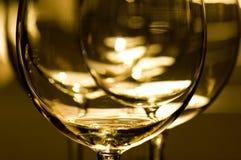 szkła czerwone wino Zdjęcie Stock