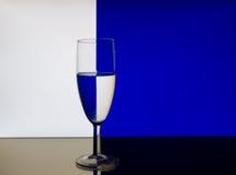szkła deseniowy refrakci wino Obrazy Royalty Free