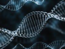 Szkła DNA model 3d Zdjęcie Royalty Free