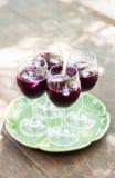 Szkła gronowy sok Fotografia Royalty Free