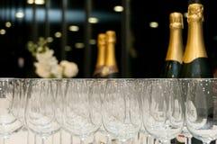 Szkła i Wino Zdjęcie Stock