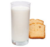 szkła mleko Obraz Royalty Free