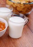 szkła mleko Zdjęcia Stock