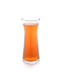 Szkło bela owocowy sok na bielu Zdjęcia Royalty Free