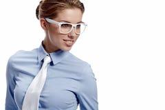 szkło biznesowa kobieta Obrazy Stock