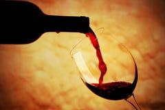 Szkło czerwone wino Obrazy Royalty Free