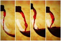 Szkło czerwone wino Obraz Royalty Free