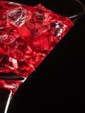 Szkło czerwony sok na czerni Obraz Stock