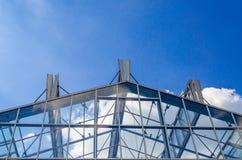 Szkło dach, stalowa struktura Fotografia Royalty Free