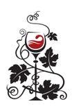 Szkło i winogrona Zdjęcie Royalty Free
