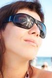 szkło kobieta Fotografia Royalty Free