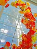 Szkło kwiaty Obrazy Stock