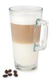 Szkło latte macchiato Fotografia Royalty Free