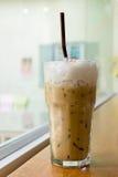 Szkło lukrowy cappuccino Fotografia Royalty Free