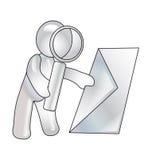 szkło pisze list spojrzenia target2953_0_ manikin Obraz Stock