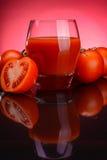 Szkło pomidorowy sok Zdjęcia Royalty Free