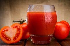 Szkło pomidorowy sok Fotografia Stock