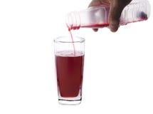 Szkło Roselle sok na bielu Zdjęcie Royalty Free