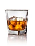 Szkło scotch whisky i lód Zdjęcie Stock