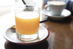 Szkło sok i kawa Zdjęcie Royalty Free