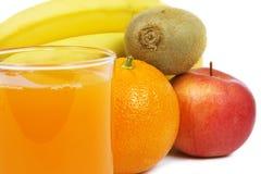 Szkło sok i owoc Fotografia Royalty Free