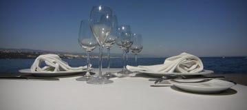 szkło talerze Zdjęcie Royalty Free