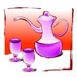 szkło wina ilustracji