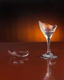 szkło wina rozpryskowy Obrazy Stock