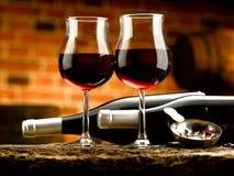 Szkło wino Zdjęcia Stock