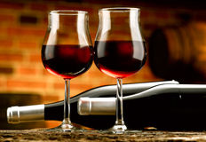 Szkło wino Zdjęcie Royalty Free