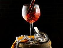 Szkło wino Obraz Royalty Free