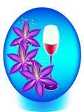 Szkło wino leluja Fotografia Royalty Free