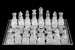 szkło zestaw szachowy Obrazy Royalty Free