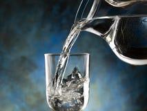 Szkło zimna woda Fotografia Royalty Free