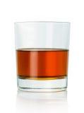 szkła odosobniony odbicia whisky biel Obrazy Stock