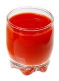 szkła odosobniony soku pomidor Obrazy Stock