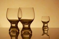 szkła retro trzy Zdjęcia Royalty Free