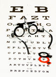 szkła target3919_1_ optotype test Obraz Stock