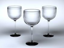 szkła trzy Zdjęcie Royalty Free