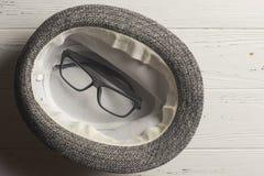 Szkła w kapeluszu Fotografia Stock