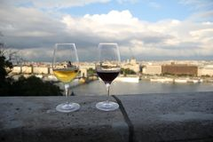 Szkła wino Fotografia Royalty Free