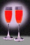 szkła wino dwa Zdjęcia Royalty Free