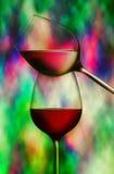 szkła wino dwa Fotografia Royalty Free